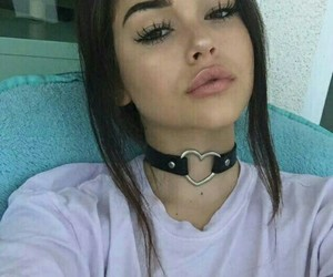 maggie lindemann, choker, and lips image