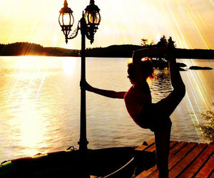 ballet and sun goes down image
