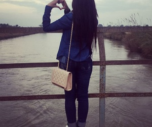heart, Lahore, and long hair image