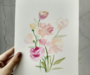 bouquet, flower, and painting image