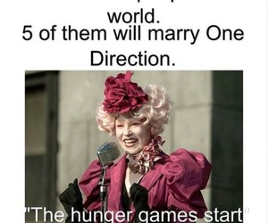 one direction, hunger games, and funny image