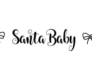 black hair, brown hair, and santa baby image