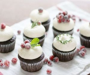 beautiful, christmas, and cupcake image