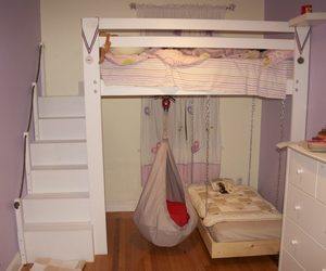 delightful, loft bed, and toddler image
