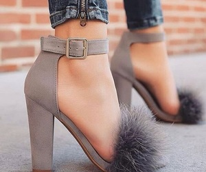 heels, makeup, and shoes image
