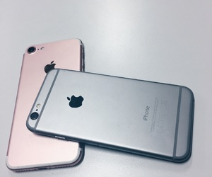 grey, iphone, and pink image