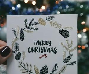 merry christmas, christmas, and card image