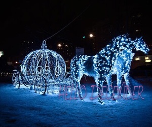 christmas, light, and horse image