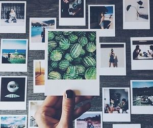 photo, polaroid, and watermelon image