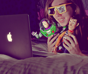 toy story, apple, and buzz image