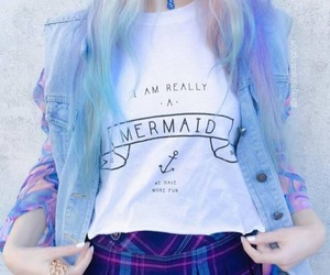 hair, mermaid, and pastel image