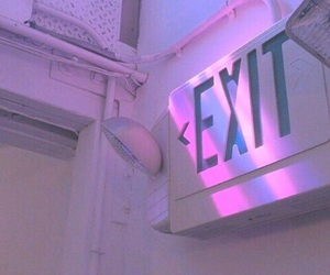 pink, exit, and grunge image