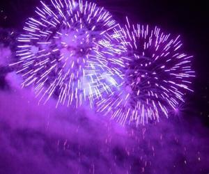 fireworks, purple, and light image