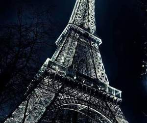paris, night, and france image