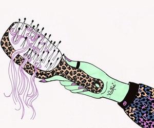 art, brush, and hair image