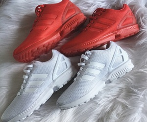 adidas, fur, and red image