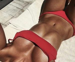 bikini, girl, and holiday image