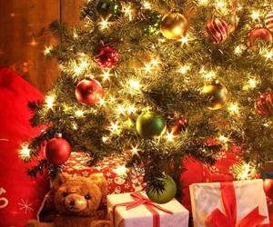 christmas, lights, and three image