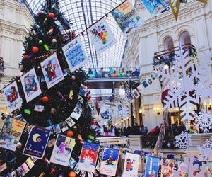 christmas, christmas tree, and moscow image