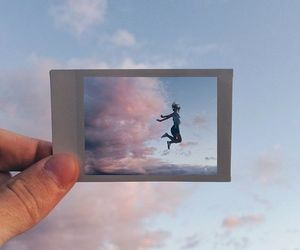 sky, photography, and polaroid image