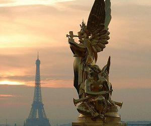 eiffel, statue, and travel image