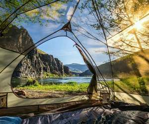 nature, camping, and landscape image