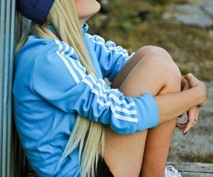 adidas, blonde, and swag image