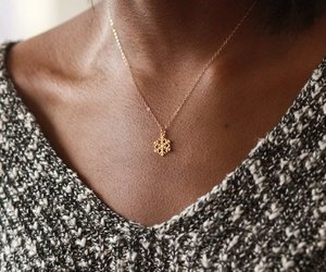 fashion, snowflake, and necklace image