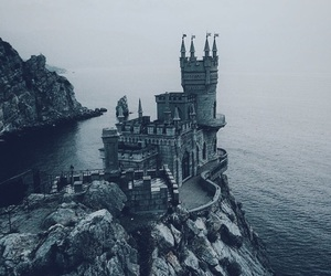 castle and sea image