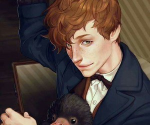 harry potter, newt, and fantastic beasts image