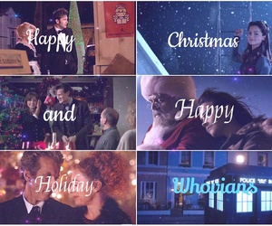 christmas, merry christmas, and doctor who image