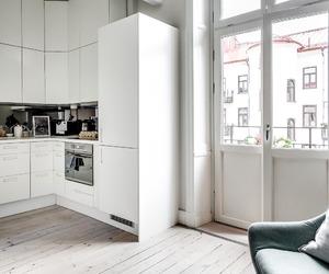 city, fridge, and kitchen image