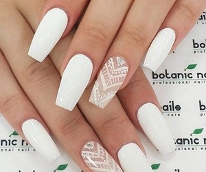 nails, white, and nail art image