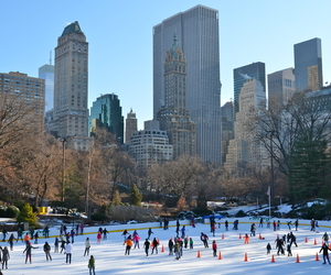 Central Park, christmas, and rockefeller center image