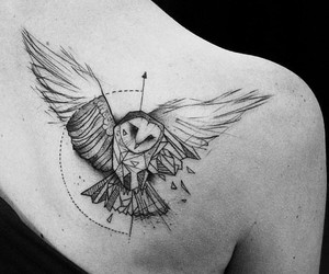 ink, inked, and owl image