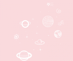 pink, planet, and pastel image