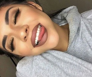 makeup, beauty, and smile image