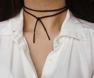 fashion, black, and choker image