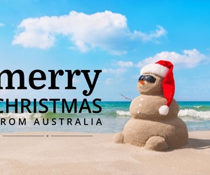 australia, beach, and christmas image