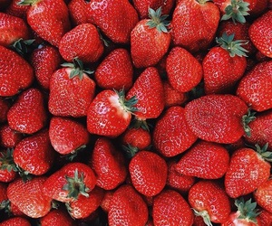 food, strawberry, and healthy food image