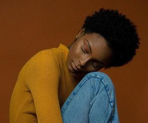 beauty, dark skin, and short natural hair image