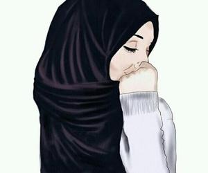 hijab and drawing image