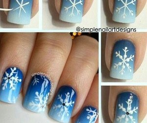 nails, blue, and winter image
