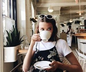 girl, coffee, and cafe image