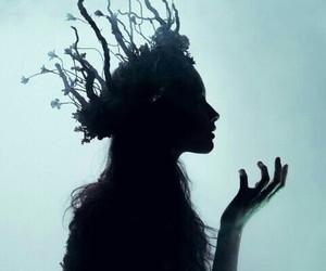 fantasy, crown, and dark image