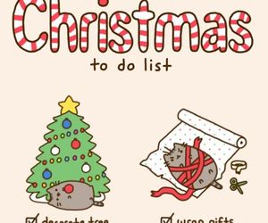 christmas, pusheen, and cat image