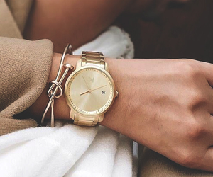 fashion, gold, and girl image