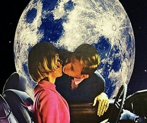 kiss, moon, and space image