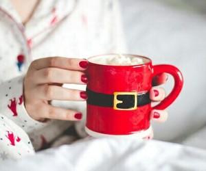 christmas, mug, and red image