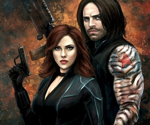 Avengers, black widow, and winter soldier image